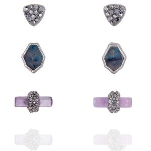 Chloe + Isabel Riverstone Stud Trio Earrings
